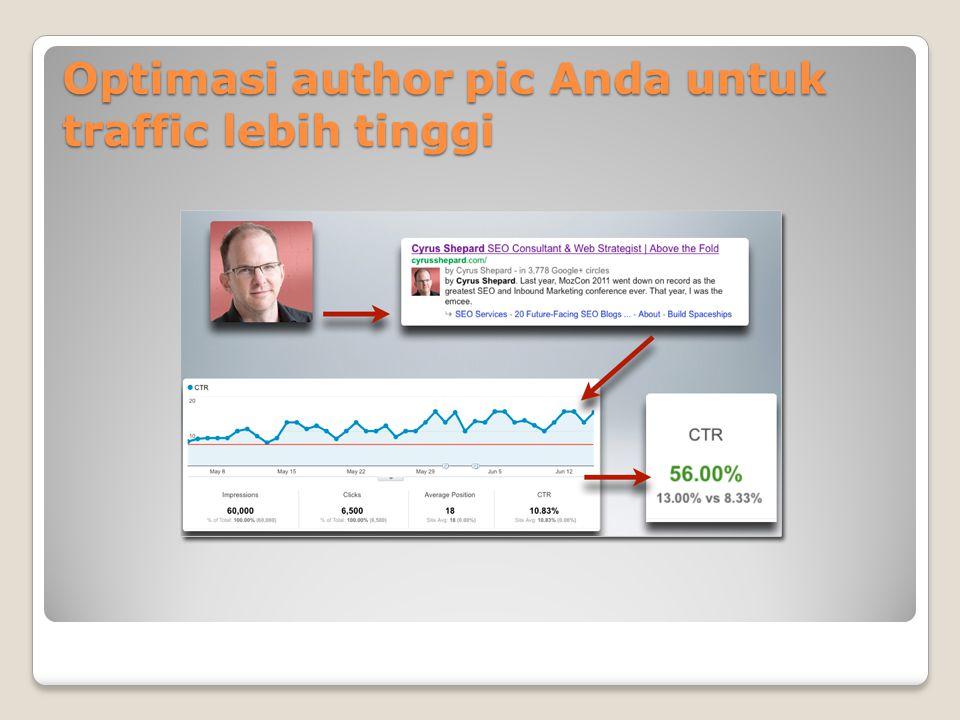 Optimasi author pic Anda untuk traffic lebih tinggi