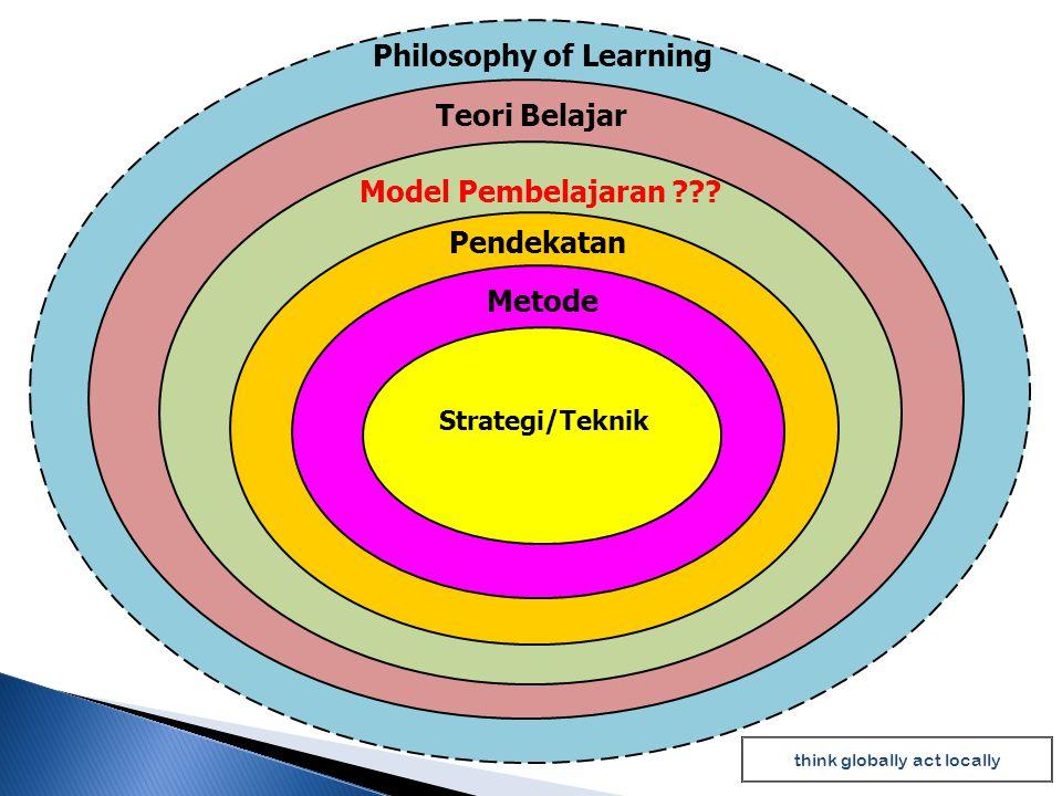  Pengajaran Langsung (DL= Direct learning),  Pembelajaran Kooperatif (cooperative learning)  Pengajaran Berdasarkan Masalah (PBL=Problem Base Learning)  Inkuiri atau belajar melalui penemuan.