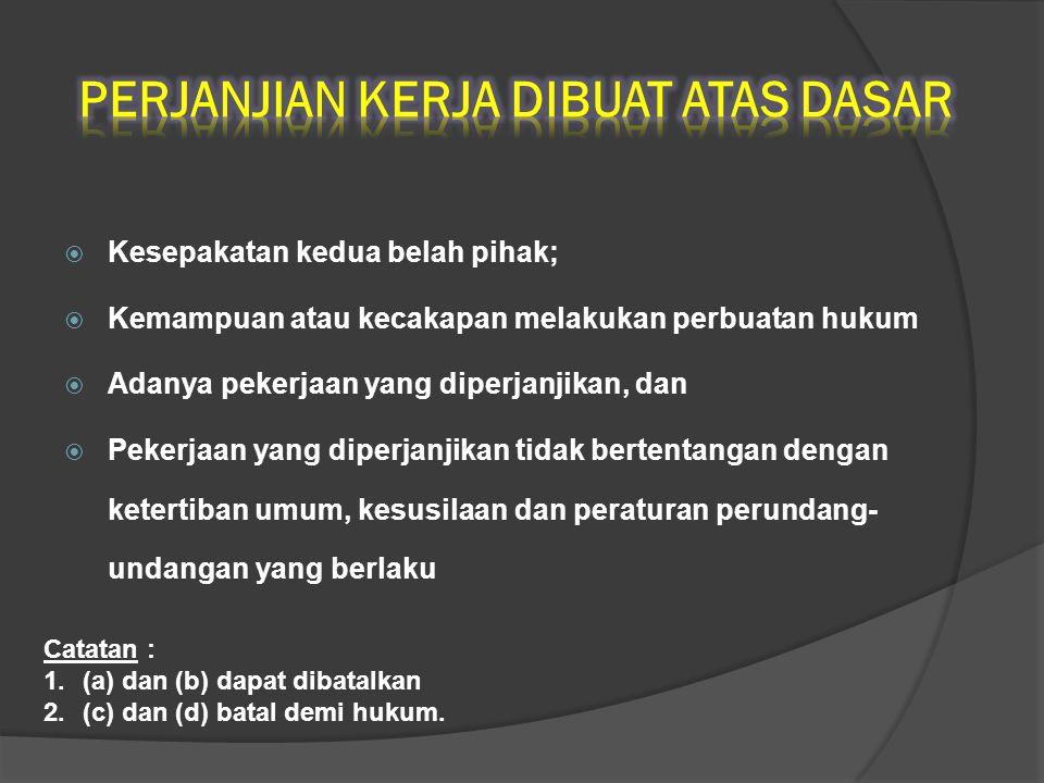 NoNoDASAR HUKUMURAIAN 8Pasal 160 ayat (1) UU No.13 Th.