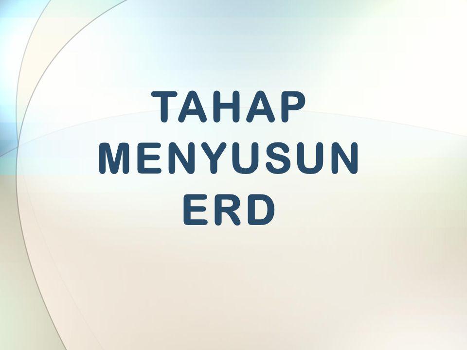 TAHAP MENYUSUN ERD