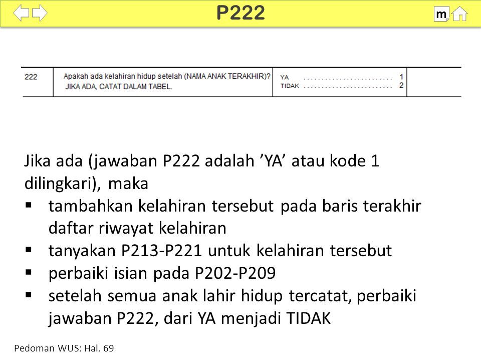 100% SDKI 2012 P222 m Pedoman WUS: Hal.