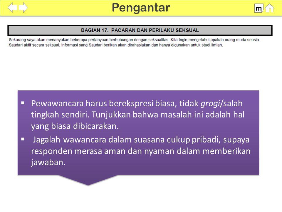 Pedoman WUS Hal.164-165 P1704 harus ditanyakan dengan hati-hati!!.