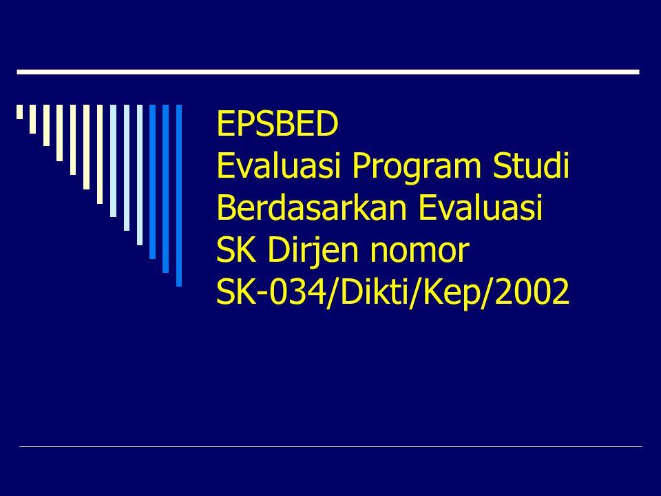 sta@wartono.com EPSBED Sebagai Basis Data  EPSBED merupakan basis data untuk penjaminan mutu pendidikan  Basis data ini digunakan oleh P.T.