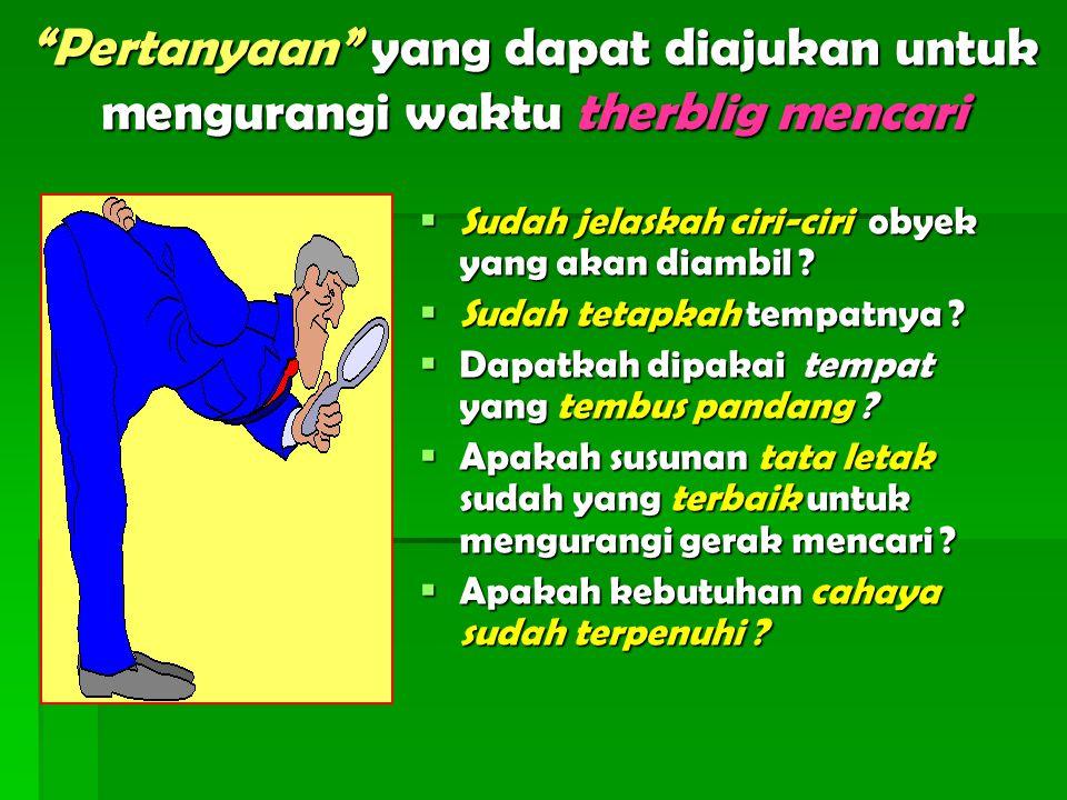 Gerak Perakitan (asemble) dan gerak Lepas rakit ( diasemble)  Gerak perakitan adalah gerak untuk menggabungkan dua obyek atau lebih agar jadi satu kesatuan ( gerak ini biasanya didahului oleh therblig membawa atau mengarahkan, kemudian dilanjutkan dengan therblig melepas  Gerak lepas rakit adalah kebalikan gerak perakitan, dengan tujuan memisahkan dua obyeh /lebih yg telah menyatu (Gerak ini biasanya didahului oleh memegang, kemudian dilanjutkan dengan melepas).