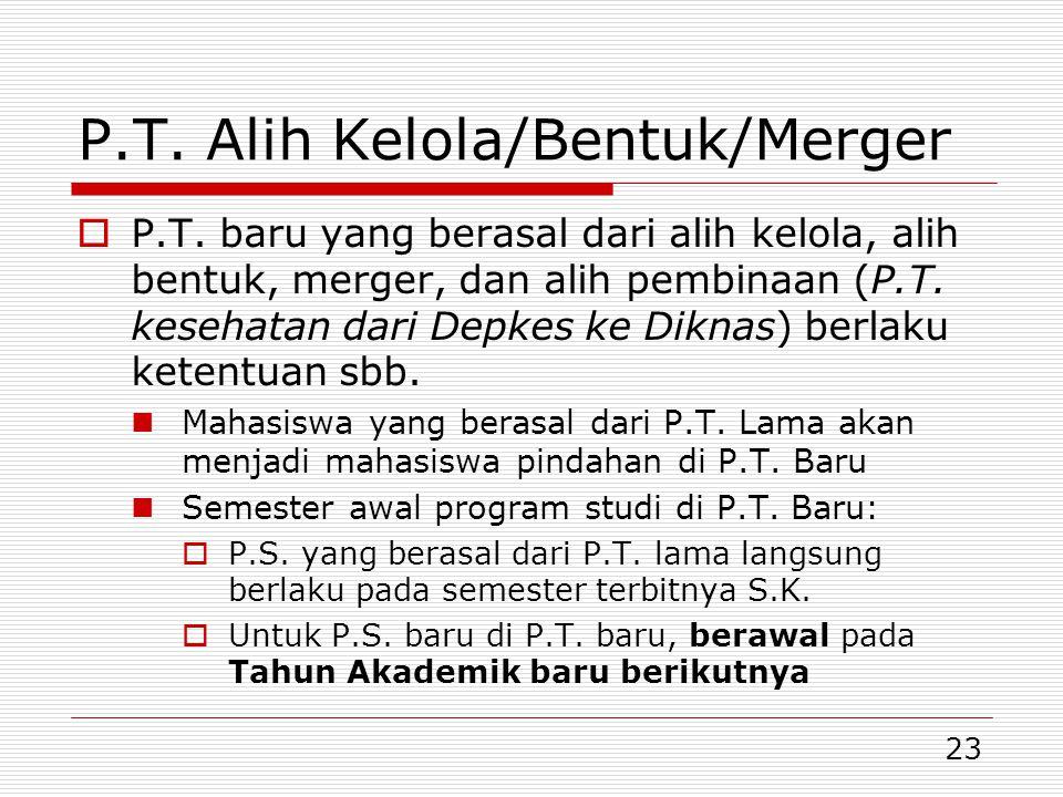 23 P.T.Alih Kelola/Bentuk/Merger  P.T.