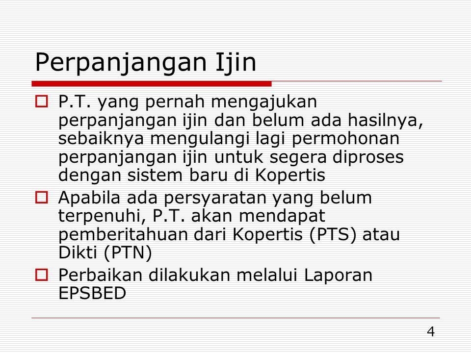 4 Perpanjangan Ijin  P.T.