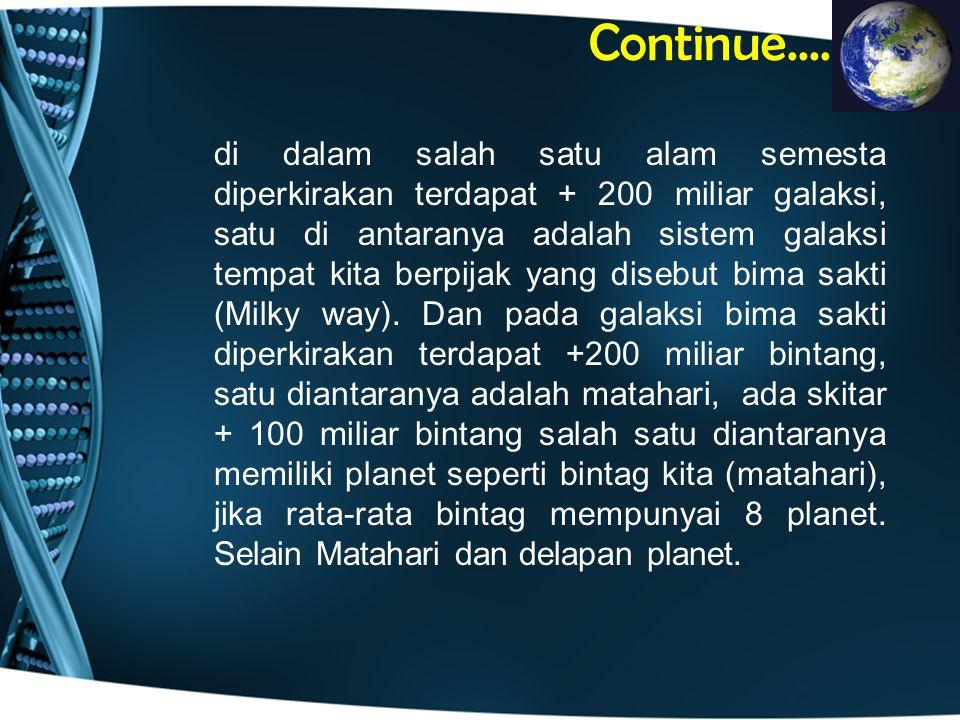 Bumi (The Earth) tempat kita berpijak adalah anggota dari salah satu sistem tata surya, yang berpusat di matahari (the sun). Sistem tata surya adalah