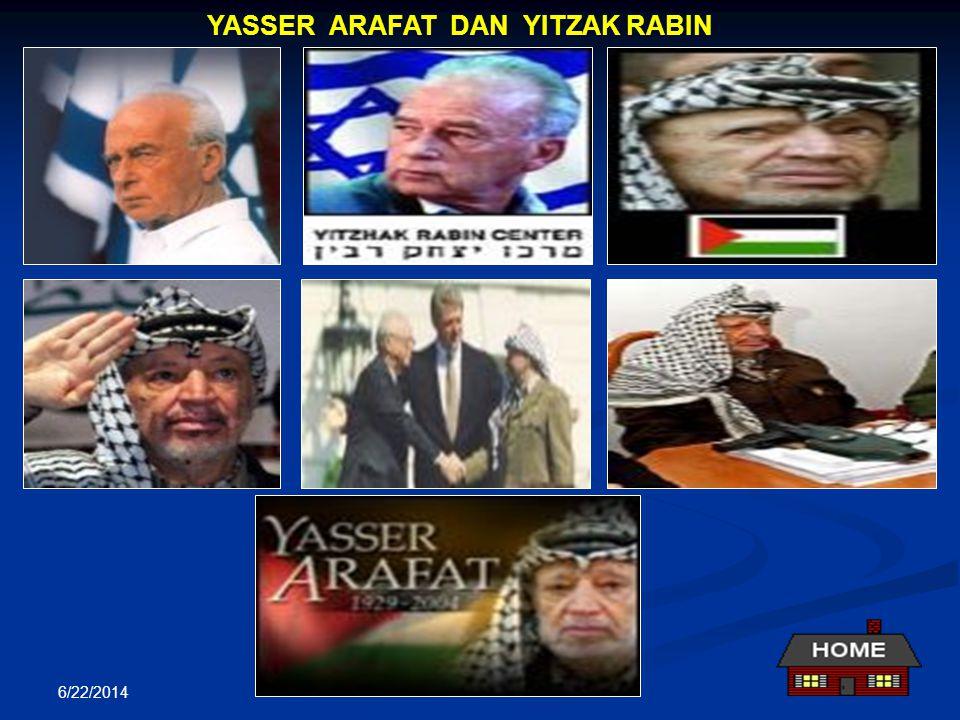 6/22/2014 Perjanjian Palestina – Israel (13 September 1993) Wakil-wakil dalam Perundingan: Palestina diwakili Yasser Arafat Israel diwakili Yizak Rabi