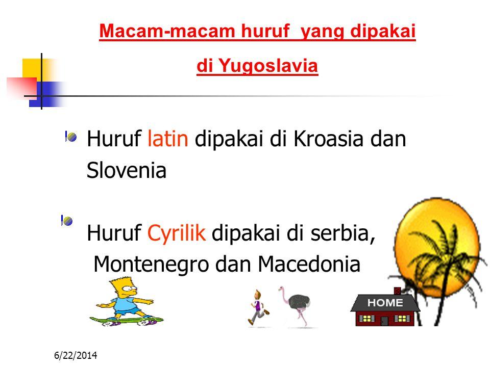 6/22/2014 Kondisi Etnis dan Agama di Yugoslavia Macedonia beragama Kristen Ortodoks Kroasia beragama Katolik Roma Serbia beragama Kristen Ortodoks Slo