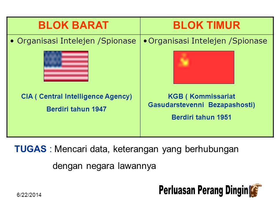 6/22/2014 BLOK BARATBLOK TIMUR • Pakta Pertahanan Militer : A. SEATO ( 1954 ) 7an : bendung pengaruh Komunis di Asia Tenggara Anggota : USA, Inggris,