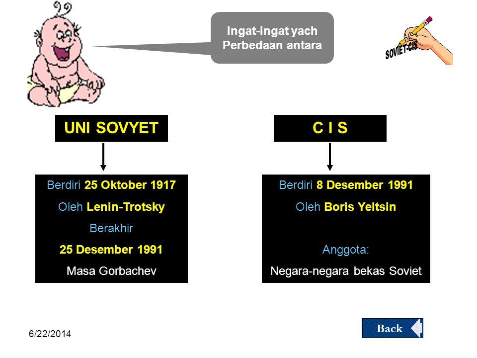 6/22/2014 Pemikiran Gorbachev  Demokratizatsia (Demokratisasi) (Demokratisasi)  Glasnost (Keterbukaan )  Perestroika (Restrukturisasi/pemba haruan)