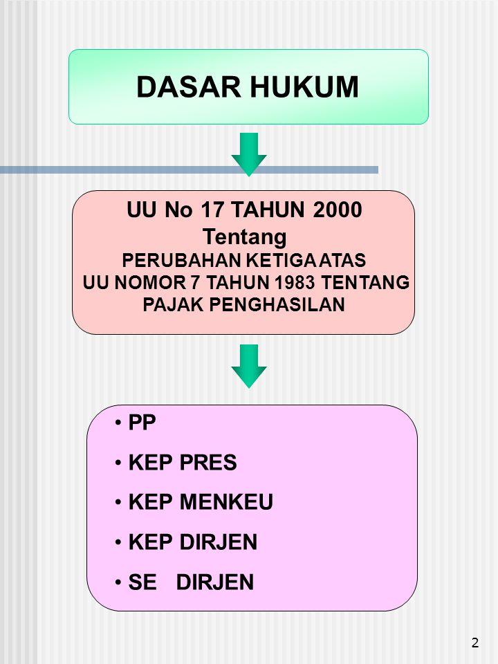 13 SETIAP TAMBAHAN KEMAMPUAN EKONOMIS YANG : - Diterima atau diperoleh Wajib Pajak, - Berasal dari Indonesia maupun dari luar Indonesia, - Dapat dipakai untuk konsumsi atau untuk menambah kekayaan Wajib Pajak, P E N G H A S I L A N DENGAN NAMA DAN DALAM BENTUK APAPUN OBJEK PAJAK Pasal 4 ayat (1)
