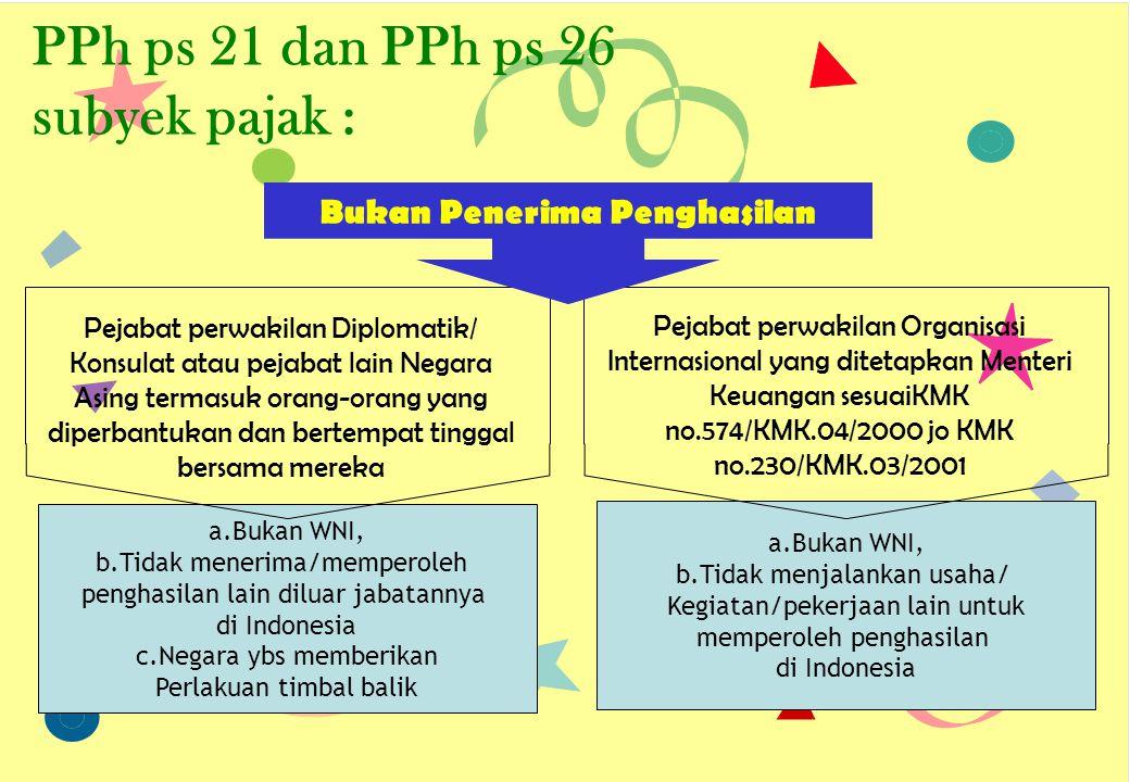 a.Bukan WNI, b.Tidak menjalankan usaha/ Kegiatan/pekerjaan lain untuk memperoleh penghasilan di Indonesia a.Bukan WNI, b.Tidak menerima/memperoleh pen