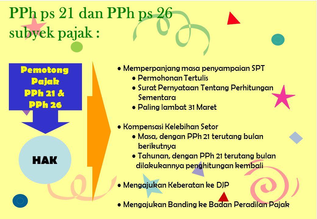 Pemotongan PPh ps 21/PPh ps 26 PEGAWAI TETAP : Uraian PTKPs.d.