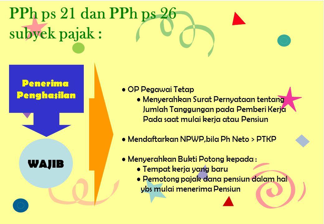 PPh ps 21 dan PPh ps 26 subyek pajak : Penerima Penghasilan Meminta Bukti Potong PPh ps 21 / ps 26 HAK