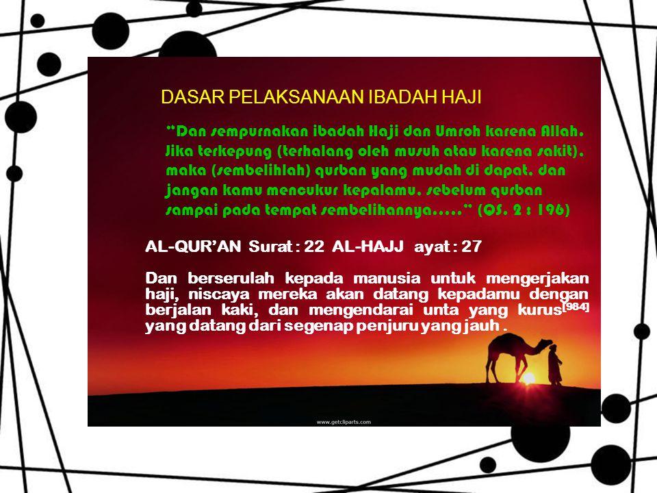 Dan sempurnakan ibadah Haji dan Umroh karena Allah.