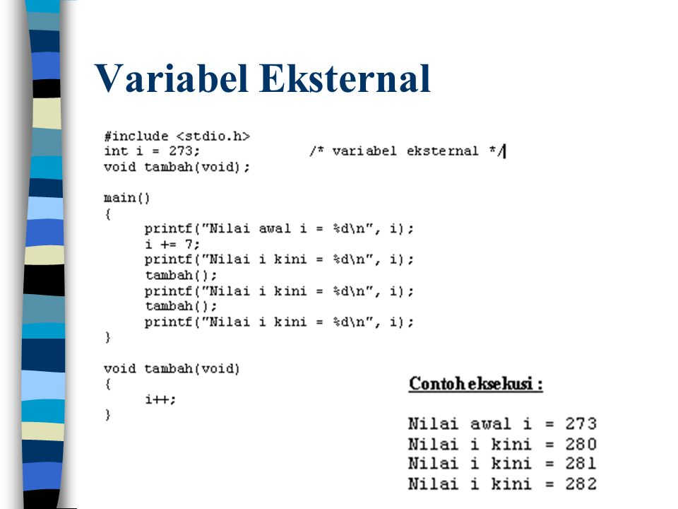 Variabel Eksternal