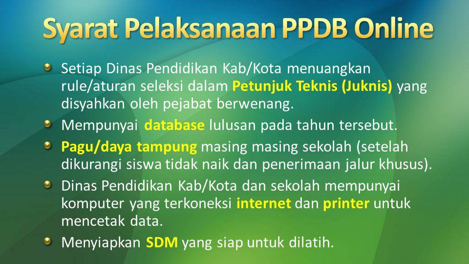  Pisahkan jalur akses input data dan akses tampilan hasil PPDB  Gunakan Load Balancing (pembagi beban) pada Web Server  Gunakan Statik Teks  lebih aman, lebih handal, lebih cepat  Sosialisasikan PPDB Online secara intensif dan masif