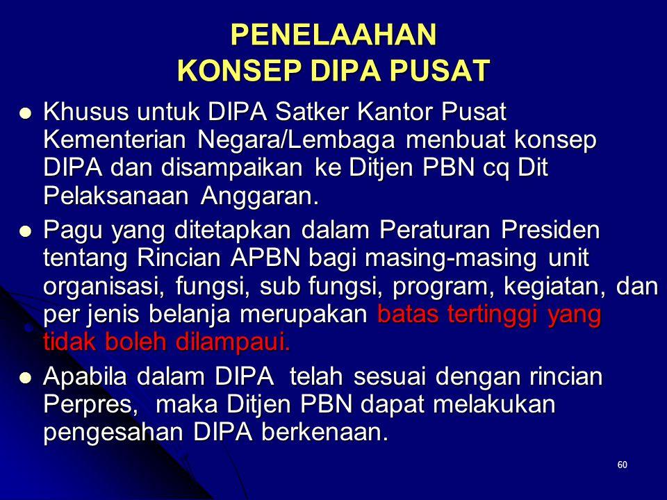 Tujuan  Tujuan penelaahan adalah untuk memperoleh kesesuaian DIPA yang akan ditetapkan dengan dokumen resmi yang menjadi dasar penyusunannya.  Apabi