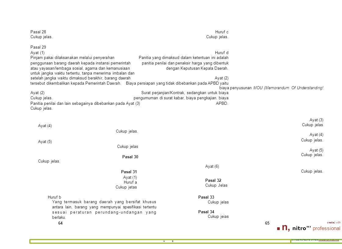 download the free trial online at nitrondf.rom/nrofp,innal '4 e Pasal 28Huruf cCukup jelas. Pasal 29 Ayat (1)Huruf d Pinjam pakai dilaksanakan melalui