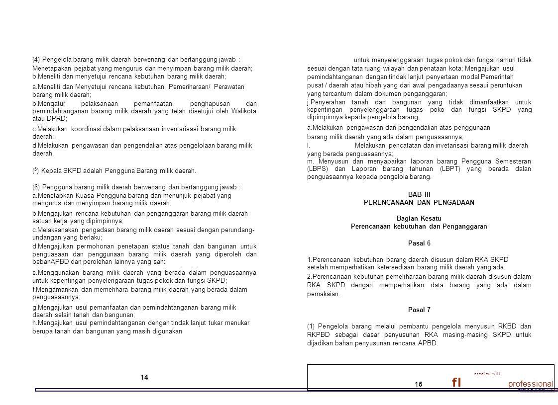 download the free trial online at nitrondf.rom/orofe•innal (4) Pengelola barang milik daerah berwenang dan bertanggung jawab : Menetapakan pejabat yan