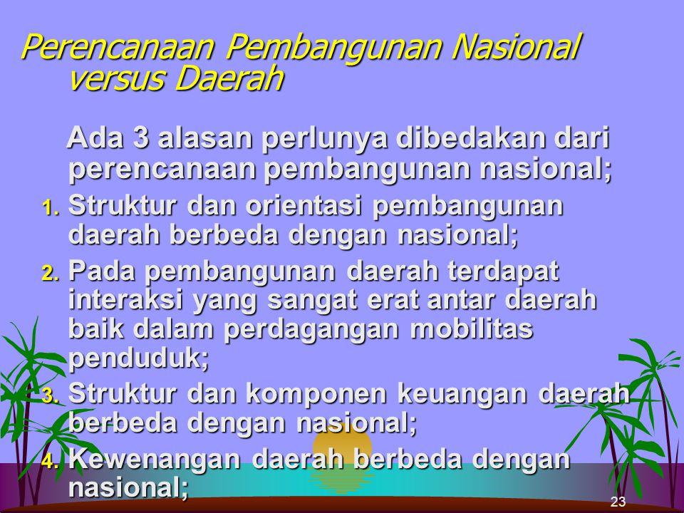 22 NASIONALDAERAH Rencana Pembangunan Jangka Panjang Nasional (RPJP Nasional) Rencana Pembangunan Jangka Panjang Daerah (RPJP Daerah) Rencana Pembangu