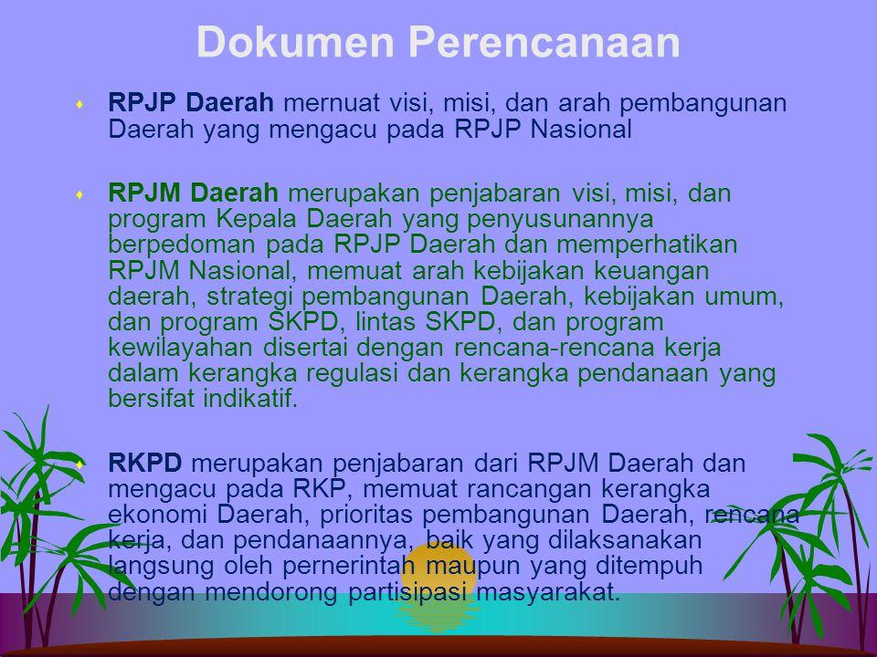 Dokumen Perencanaan s RPJP Nasional merupakan penjabaran dari tujuan dibentuknya pernerintahan Negara Indonesia yang tercanturn dalam Pembukaan UUD 19