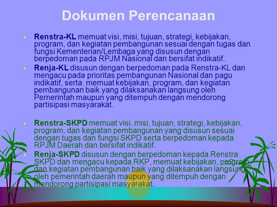 Dokumen Perencanaan s RPJP Daerah mernuat visi, misi, dan arah pembangunan Daerah yang mengacu pada RPJP Nasional s RPJM Daerah merupakan penjabaran v