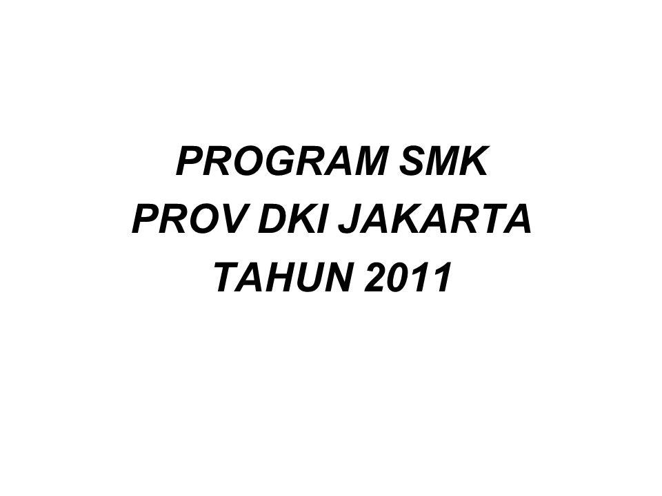 PROGRAM SMK PROV DKI JAKARTA TAHUN 2011
