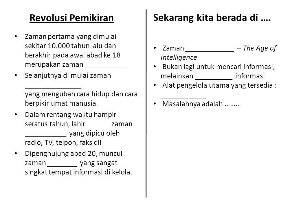 Banjir Informasi • Media Cetak : a.B______ b. M______ c.