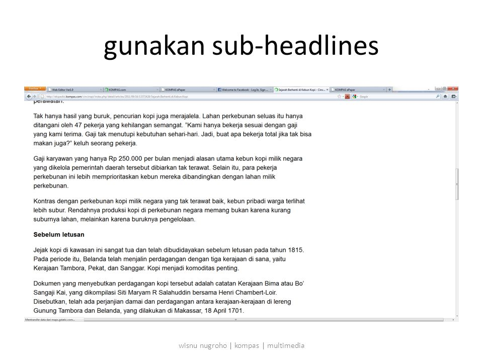 gunakan sub-headlines wisnu nugroho | kompas | multimedia