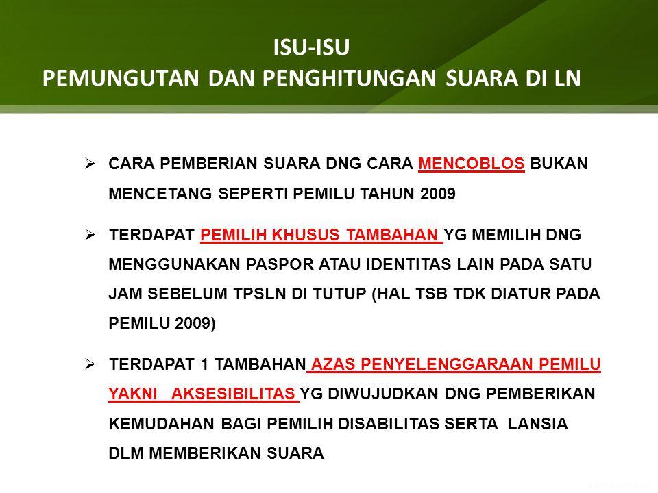 PENANDAAN SUARA SAH : tanda coblos pada kolom yang memuat lebih dari 1 nomor urut dan nama calon dari Partai Politik yang sama, suaranya dinyatakan sah 1 (satu) suara untuk Partai Politik
