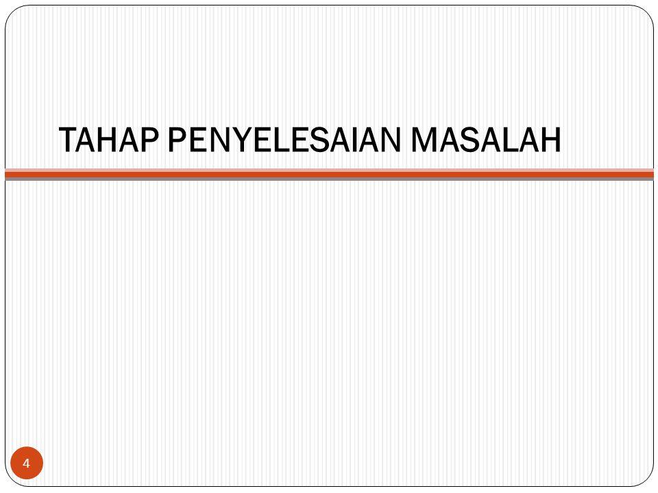 TAHAP PENYELESAIAN MASALAH 4