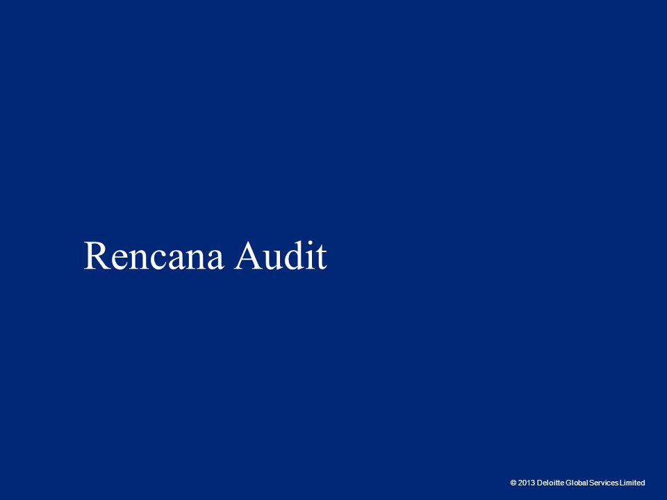 © 2013 Deloitte Global Services Limited Rencana Audit