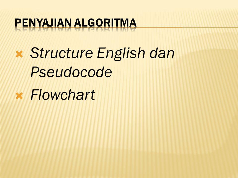  Structure English merupakan alat yang cukup efisien untuk menggambarkan suatu algoritma.