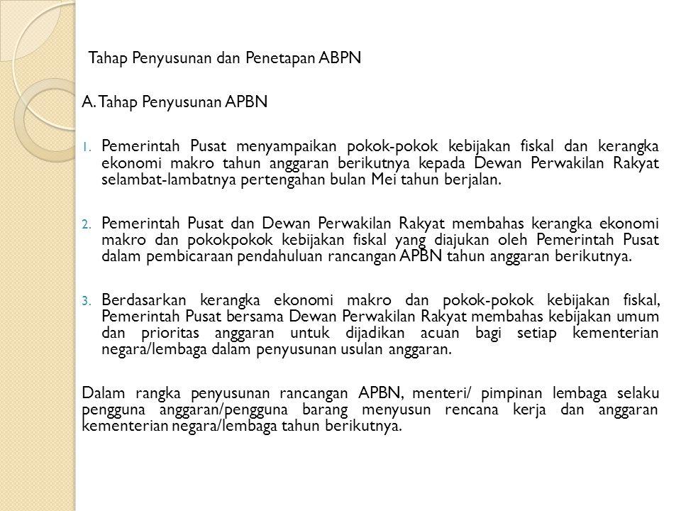 PERTANGGUNGJAWABAN PELAKSANAAN APBN DAN APBD A.Pertanggungjawaban Pelaksanaan APBN 1.