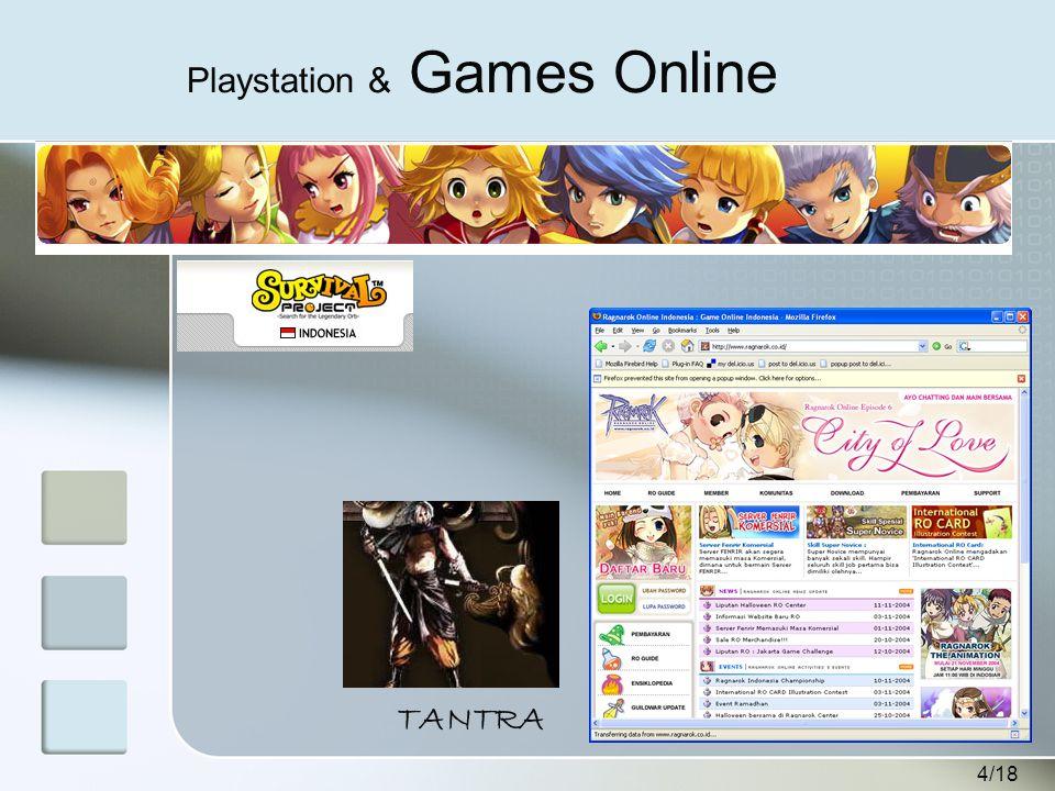 4/18 Playstation & Games Online TANTRA