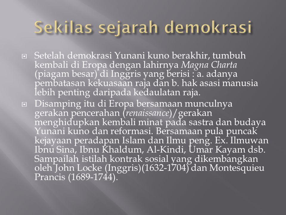  Periode Sebelum kemerdekaan  Setelah merdeka dapat kita bagi kedalam 4 periode yaitu : periode (1945-1959), (1959-1965), (1965-1998).