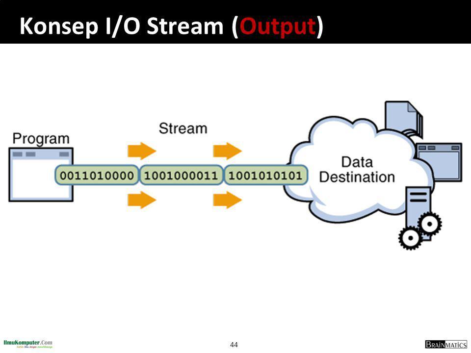 44 Konsep I/O Stream (Output)