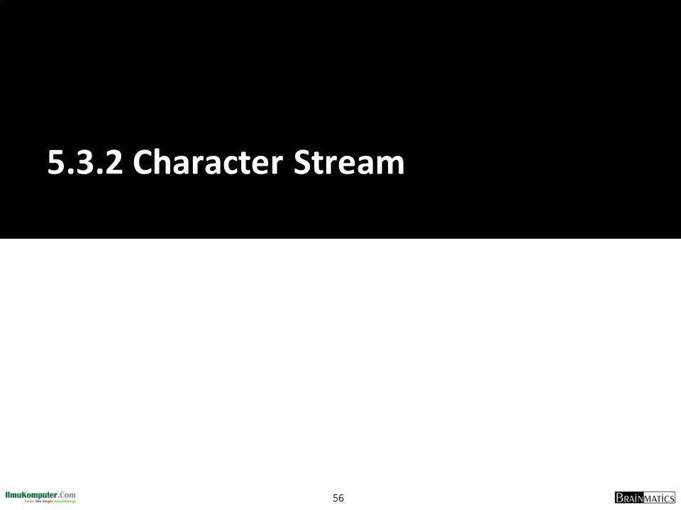 56 5.3.2 Character Stream