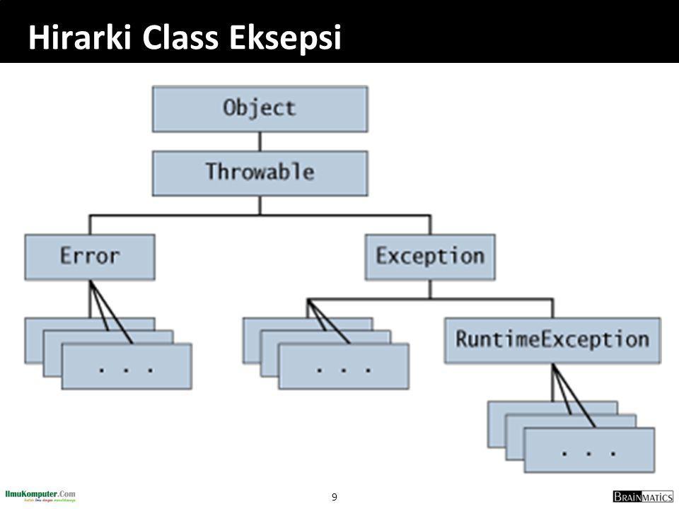 70 Menghapus File public class HapusFile{ public static void main (String[] args) { String namaFile = filetujuan.txt ; try { FileOutputStream berkasTem = new FileOutputStream(namaFile); berkasTem.close(); } catch (IOException i) {} File berkas = new File (namaFile); if (berkas.exists()) System.out.println( Berkas + namaFile + ada ); else System.out.println( Berkas + namaFile + sudah dihapus ); berkas.delete(); System.out.println( Setelah penghapusan.... ); if (berkas.exists()) System.out.println( Berkas + namaFile + ada ); else System.out.println( Berkas + namaFile + sudah dihapus ); }}