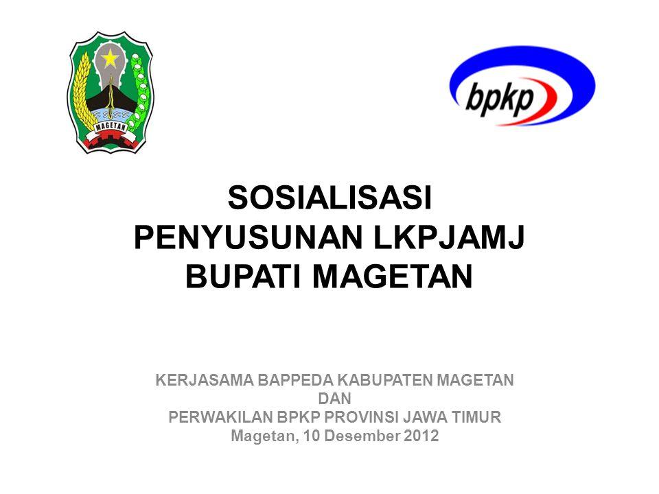 Pengertian LKPJ •LKPJ adalah laporan berupa informasi penyelenggaraan pemerintahan daerah selama 1 (satu) tahun anggaran atau akhir masa jabatan yang disampaikan oleh Kepala Daerah kepada DPRD.