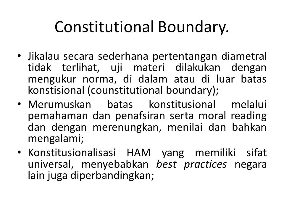 Constitutional Boundary.