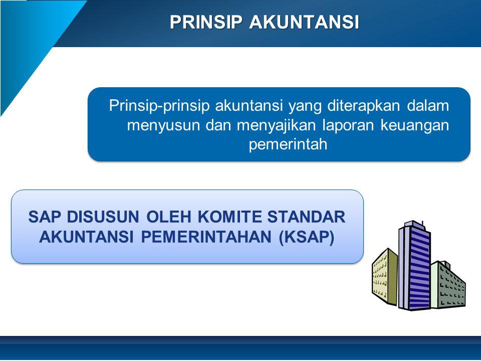 PRINSIP AKUNTANSI SAP DISUSUN OLEH KOMITE STANDAR AKUNTANSI PEMERINTAHAN (KSAP) Prinsip-prinsip akuntansi yang diterapkan dalam menyusun dan menyajika