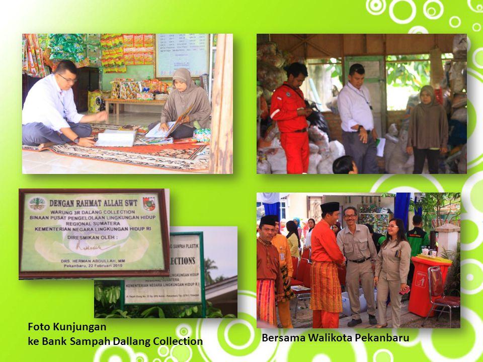 Foto Kunjungan ke Bank Sampah Dallang Collection Bersama Walikota Pekanbaru
