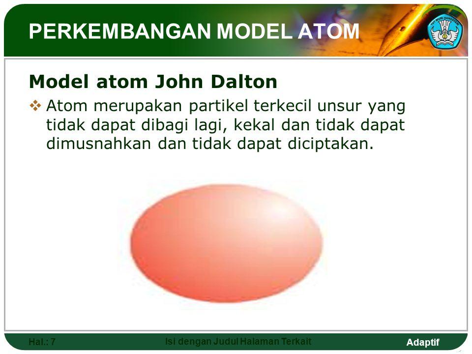 Adaptif 11. Siswa mampu mendeskripsikan dan menjelaskan variasi energi ionisasi pertama unsur yang menurun dalam satu golongan berdasarkan peningkatan