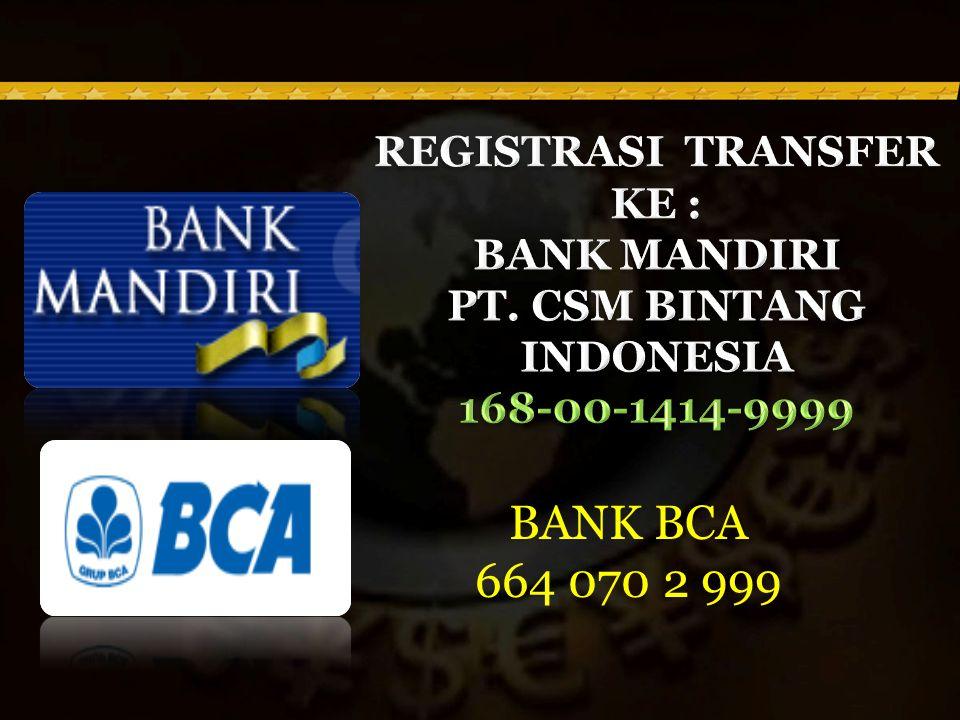 BANK BCA 664 070 2 999