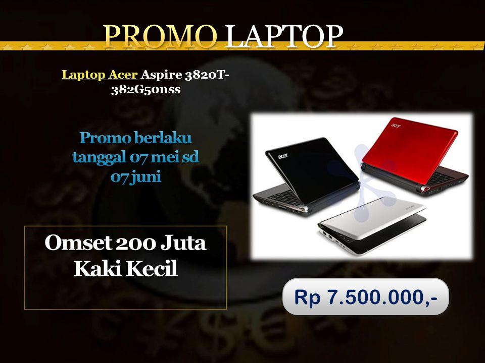 Laptop AcerLaptop Acer Aspire 3820T- 382G50nss Omset 200 Juta Kaki Kecil Rp 7.500.000,-