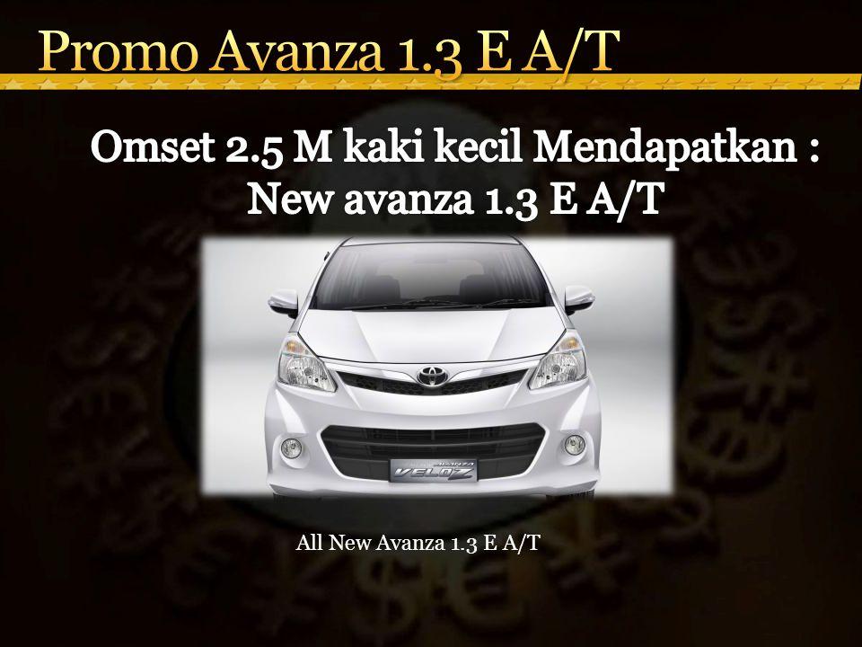 All New Avanza 1.3 E A/T