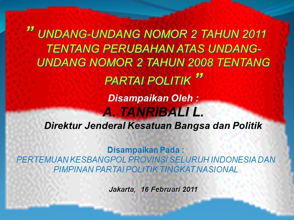 LATAR BELAKANG Berdasarkan Pasal 28 Undang-Undang Dasar Negara Republik Indonesia Tahun 1945, bahwa kemerdekaan berserikat dan berkumpul, mengeluarkan pikiran dengan lisan dan tulisan.